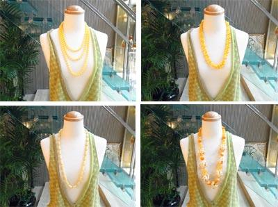 黄色ネックレス